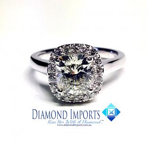 'Halo' Diamond Engagement Ring - 1.21cts