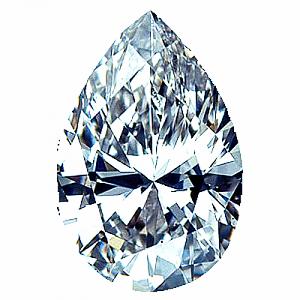 Pear Shape Diamond 0.80ct - D SI1