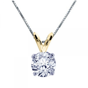Round Diamond Pendant - 1.01 carats