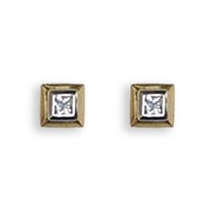 Princess Diamond Earrings - 0.15 carats total F/G VS