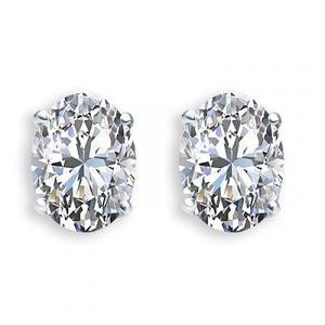 Oval Diamond Earrings 0.81 carats total F/G VS – Certified