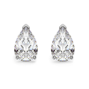 Pear Shape Diamond Earrings - 1.00 carats total D VS2/SI - GIA Certified