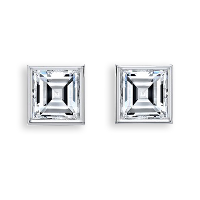 Square diamond Earrings - Carre Cut