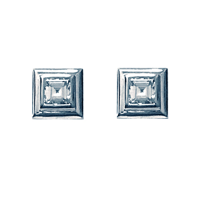 Square Dimond Earrings