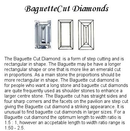 Baguette Diamond pairs FPR 020 0.54ct