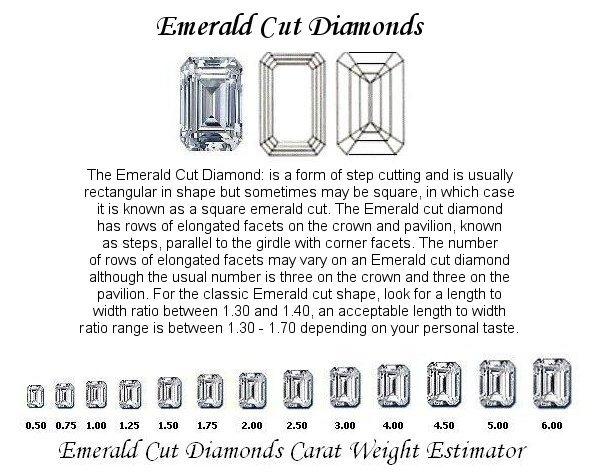 Emerald Cut Diamond Pairs FPR 050 0.35ct