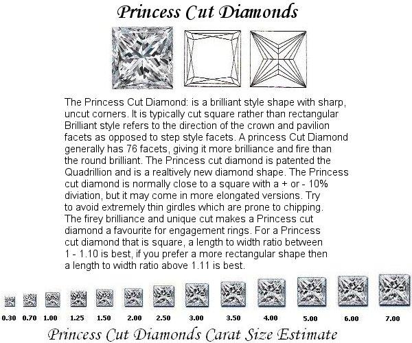 Princess Cut Diamond Pairs FPR 038 0.93ct