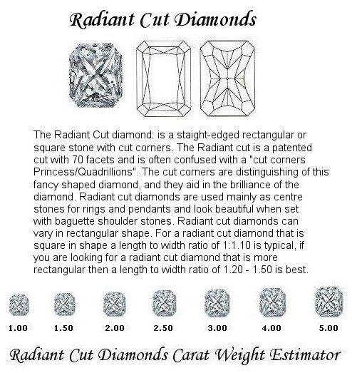 radiant Cut Diamond Pairs FPR 048 0.36ct