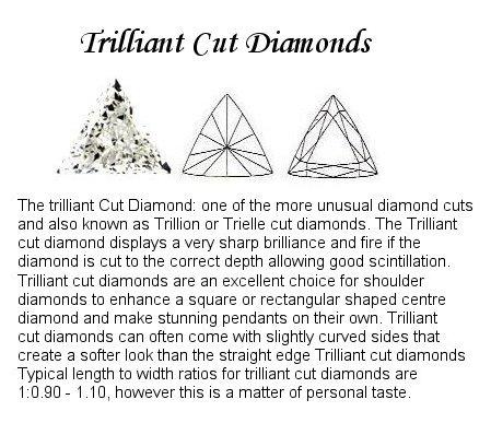 Trilliant Cut Diamond pairs FPR 181A 0.15ct