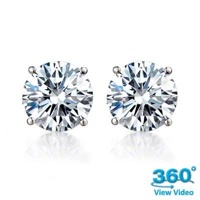 Diamond Stud Earrings - 0.61 carats total E/F SI2