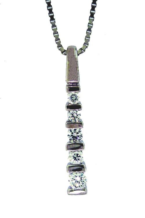 5 Stone Diamond Pendant 0.28ctw - H SI1