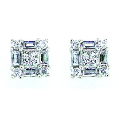 Fancy Diamond Stud Earrings - 0.48 carats total