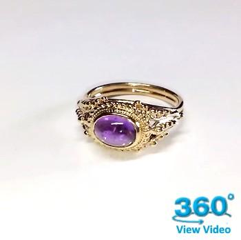 Amethyst Dress Ring