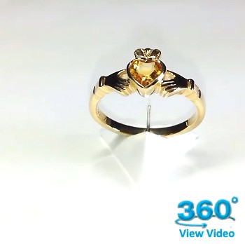 Citrine Claddagh Ring