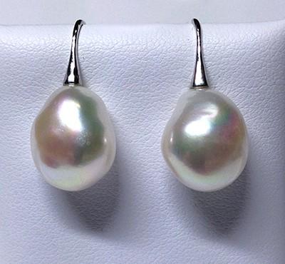 'Ikecho Pearls' Sterling Silver Freshwater Baroque Pearl Drop Earrings