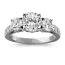 Round 3 Stone Dimond Ring