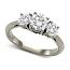 Round 3 Stone Diamond Ring