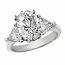 Oval 3 Stone Diamond Ring