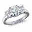 Radiant 3 Stone Diamond Ring