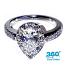 'Halo' Diamond Engagement Ring - 1.43cts