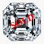 Asscher Cut Diamond 0.82ct - F VS2