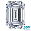 Emerald Cut Diamond 0.97ct - D VS1