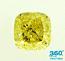 Cushion Cut Diamond 1.33ct - Fancy Yellow VS2