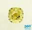 Cushion Cut Diamond 1.34ct - Fancy Yellow VS2