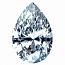 Pear Shape Diamond 0.21ct - D SI1