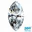 Marquise Cut Diamond 0.75ct - D IF