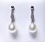 'Ikecho Pearls' 9ct White Gold Diamond & Freshwater Pearl Drop Earrings