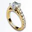 Round Diamond Accent Ring