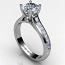 Round Diamond Ring Channel Set