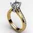 Oval Diamond Ring channel Set