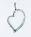Heart Pendant Set with Round Brilliant Cut Diamonds