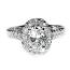 'Halo' Engagement Ring - Oval Diamond