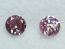 Argyle Round Brilliant Cut Diamond Pair Fancy Pink 0.148ctw