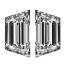 Trapezoid Diamond Pairs 0.27ct - F VVS
