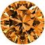 Round Brilliant Cut Argyle Diamond 2.26ct - Fancy Deep Brown-Orange VS2