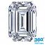 Emerald Cut Diamond 1.00ct - H VS2
