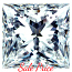 Princess Cut Diamond 0.52ct - H SI1