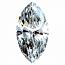 Marquise Cut Diamond 0.27ct - D IF