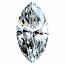 Marquise Cut Diamond 0.58ct - F VVS2