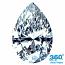 Pear Shape Diamond 1.010ct - E SI2
