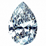 Pear Shape Diamond 0.87ct - I VS2