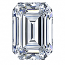 Emerald Cut Diamond 0.80ct - F IF