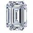 Emerald Cut Diamond 0.25ct - F VS2