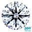 Round Brilliant Cut Diamond 0.52ct - D VVS2