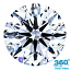 Round Brilliant Cut Diamond 0.59ct - D SI2