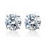 Diamond Stud Earrings - 1.04 carats total F SI1 - GIA Certified